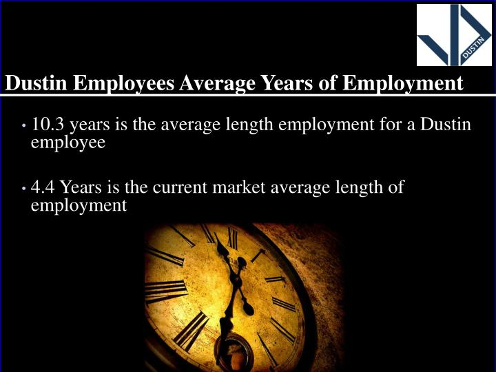 Dustin Employees Average Years of Employment
