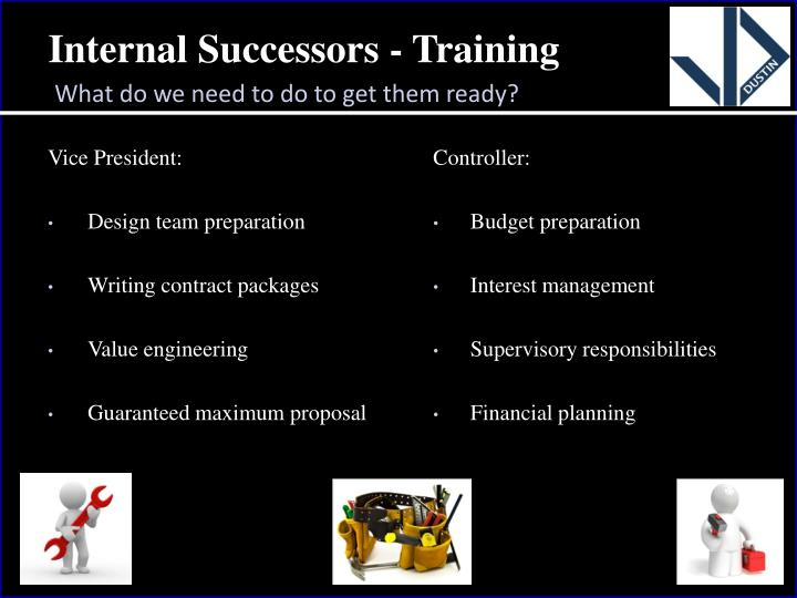 Internal Successors - Training