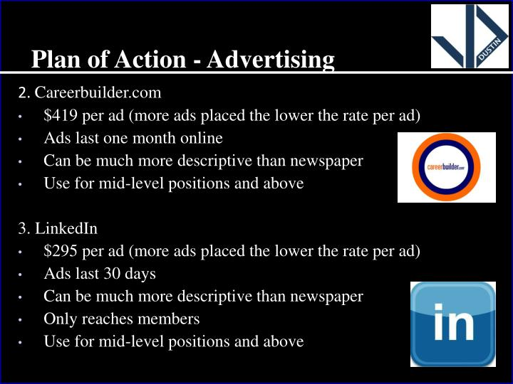 Plan of Action - Advertising