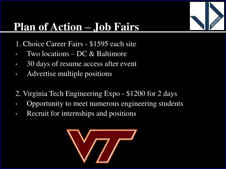 Plan of Action – Job Fairs