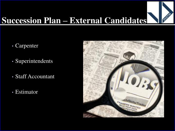 Succession Plan – External Candidates