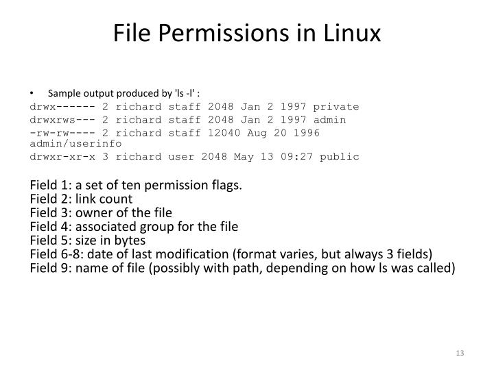 File Permissions in Linux