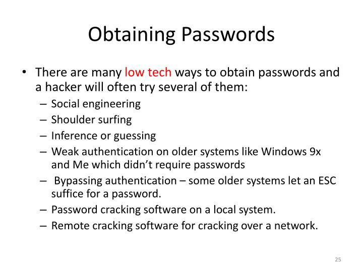 Obtaining Passwords