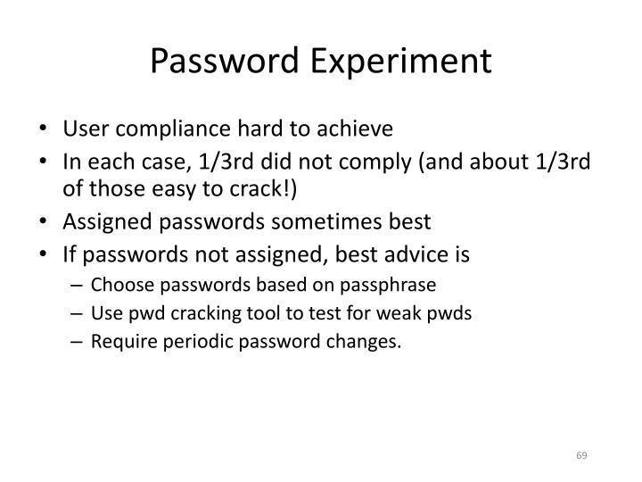 Password Experiment