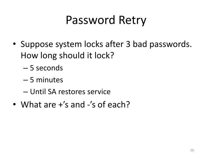 Password Retry