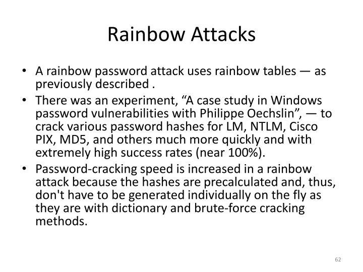 Rainbow Attacks