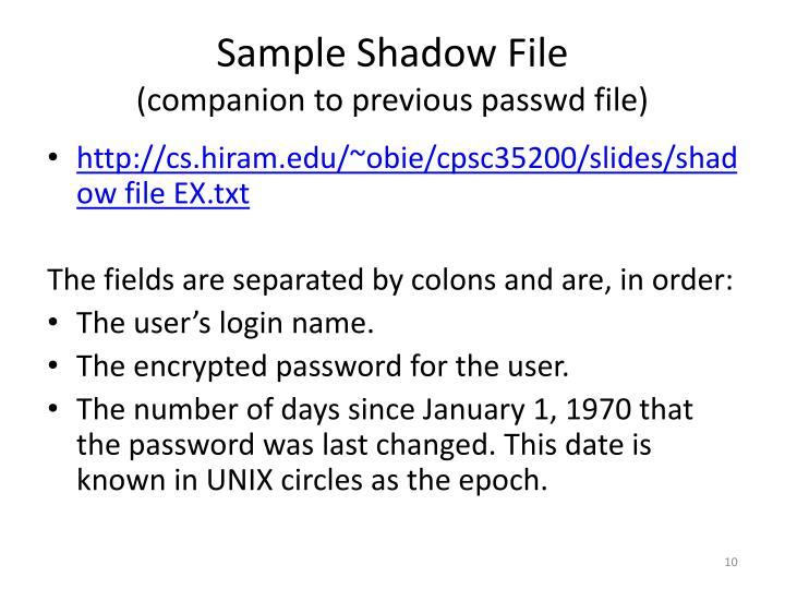 Sample Shadow File