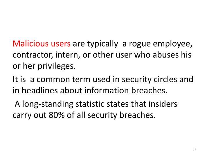 Malicious users