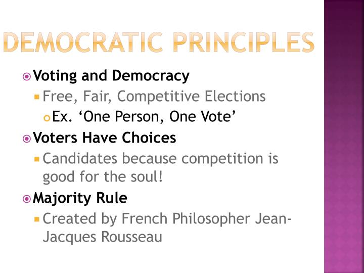 Democratic Principles