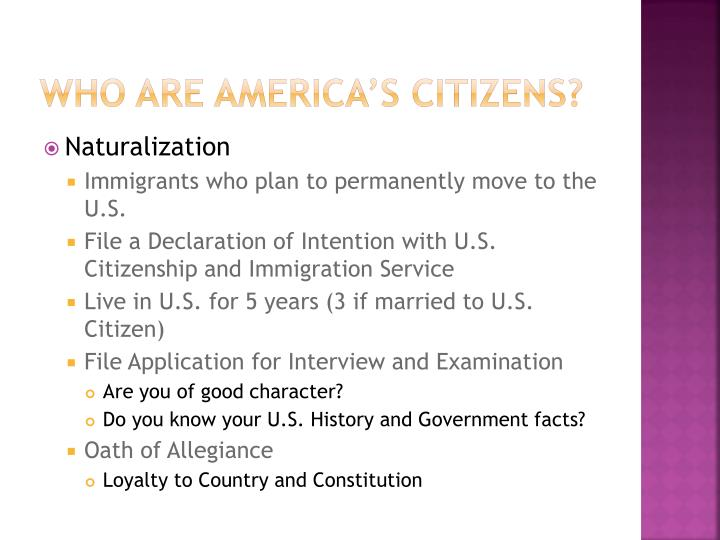 Who are America's Citizens?
