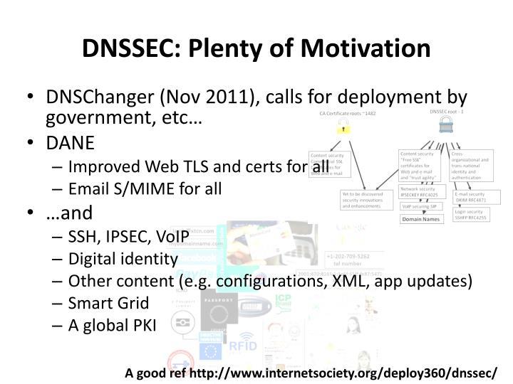 DNSSEC: Plenty of Motivation