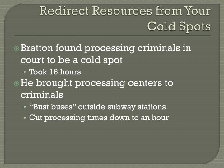 Redirect Resources from Your Cold Spots
