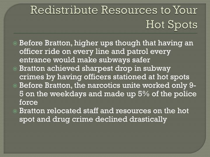 Redistribute Resources to Your Hot Spots