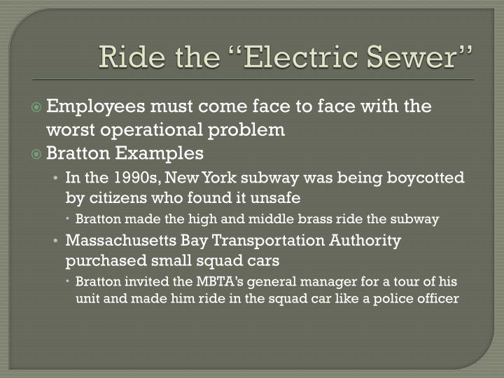 "Ride the ""Electric Sewer"""