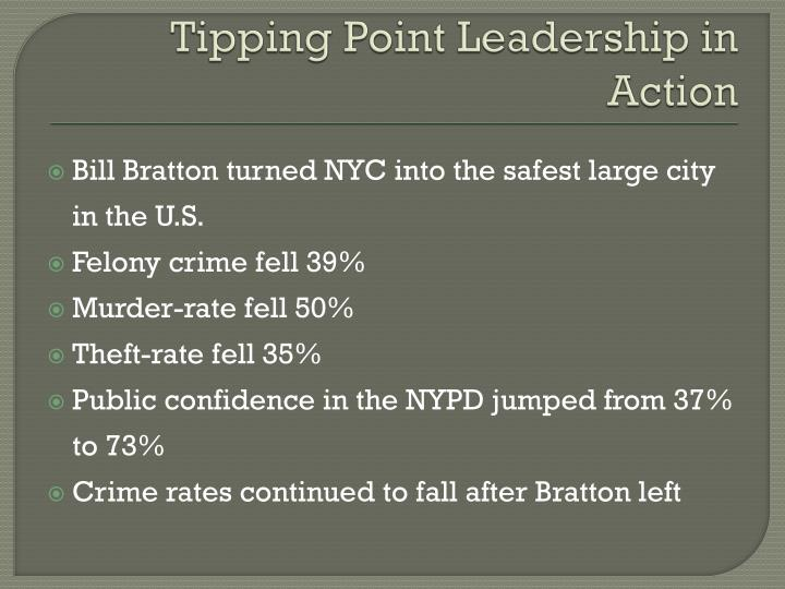 Tipping Point Leadership in Action