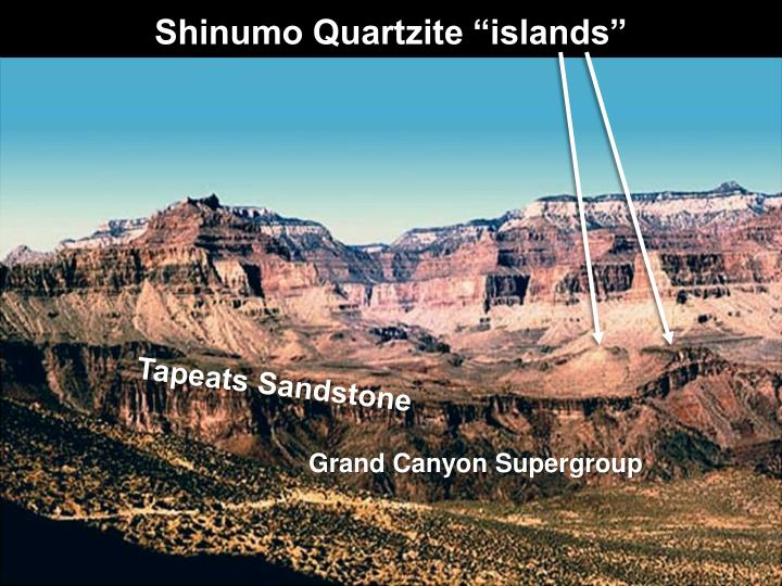 "Shinumo Quartzite ""islands"""