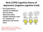 beck 1976 cognitive theory of depression negative cognitive triad2
