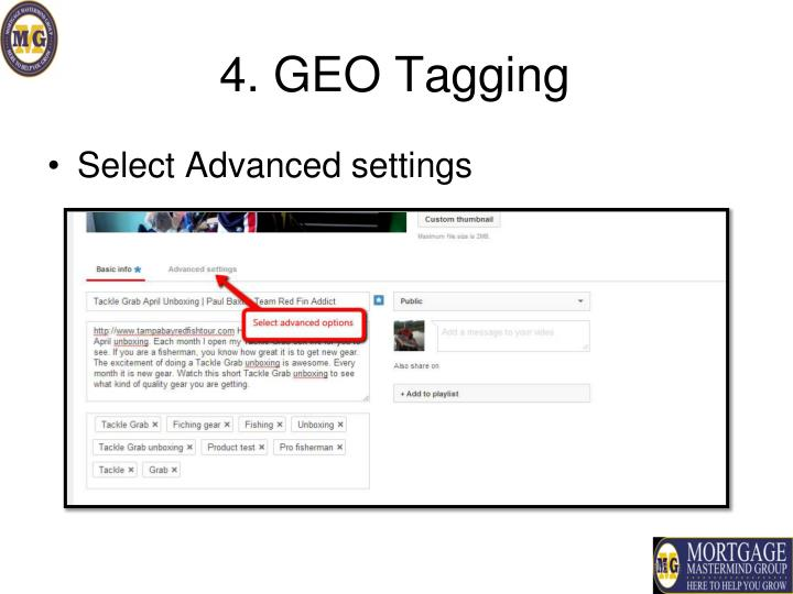 4. GEO Tagging