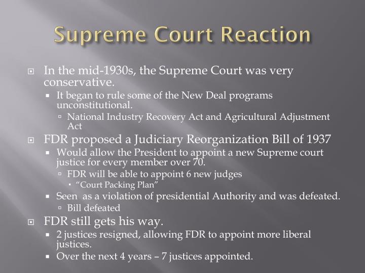 Supreme Court Reaction