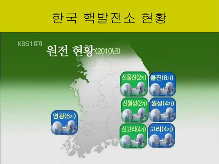 한국 핵발전소 현황