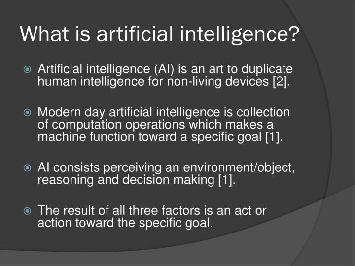 What is artificial