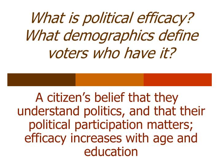 What is political efficacy?