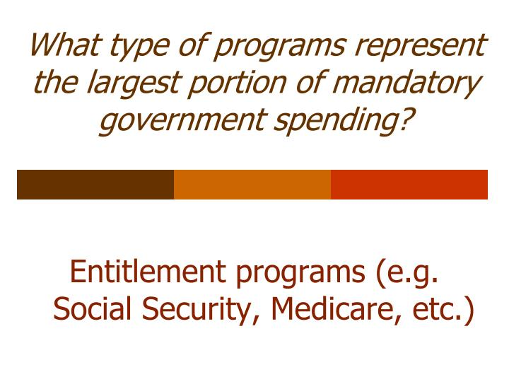 What type of programs represent the largest portion of mandatory government spending?