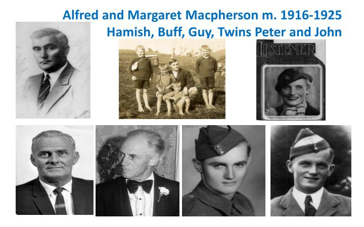 Alfred and Margaret Macpherson m. 1916-1925