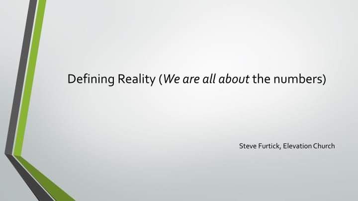 Defining Reality (