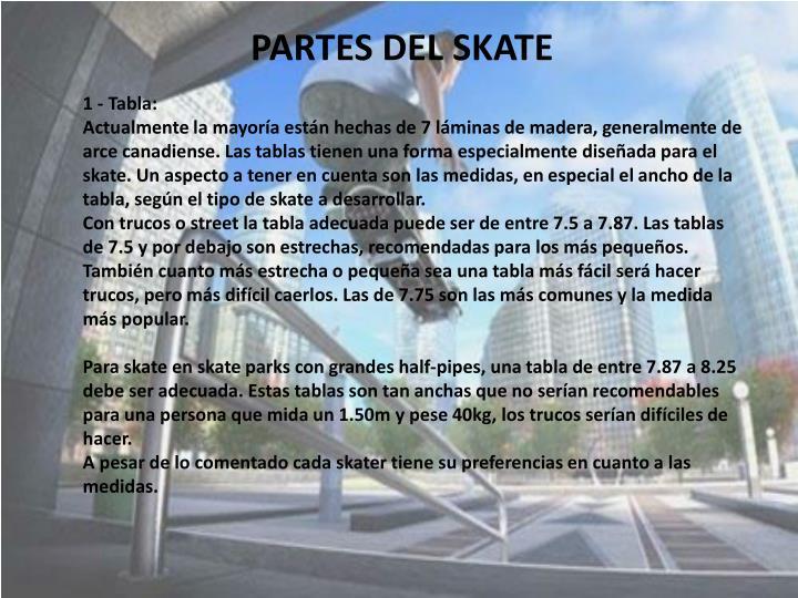 PARTES DEL SKATE