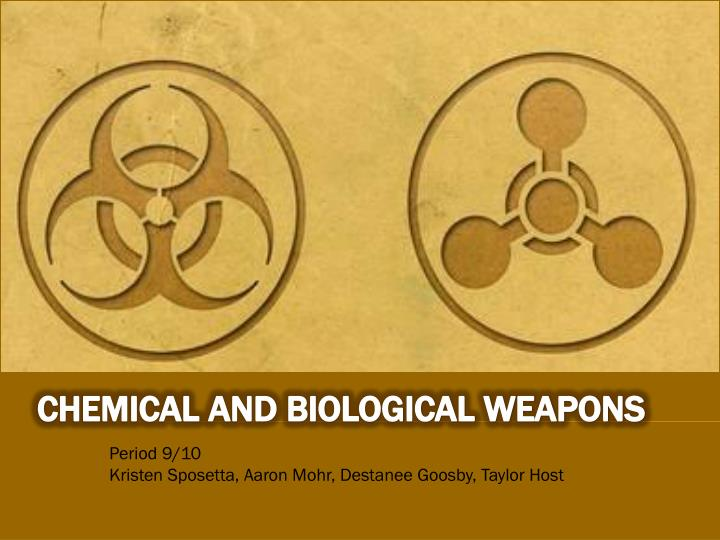 biological and chemical warfare Chemical warfare and biological warfare is explained in this article learn about biological and chemical warfare.