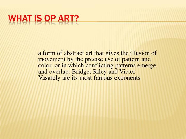 What is Op Art?