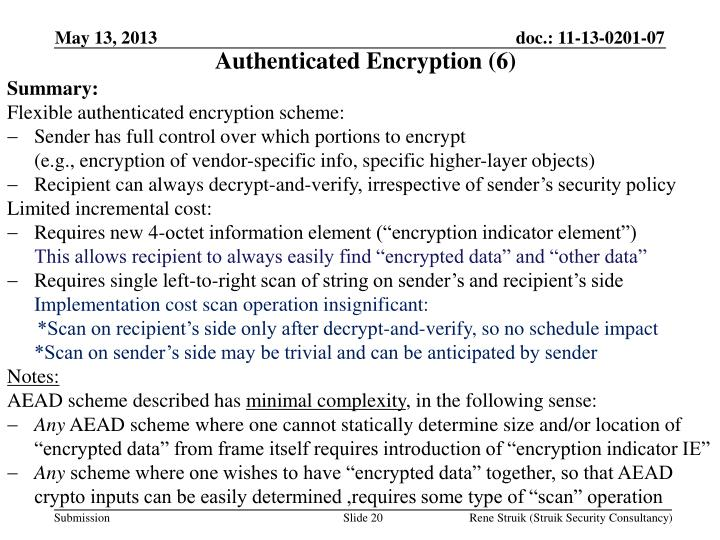 Authenticated Encryption (6)