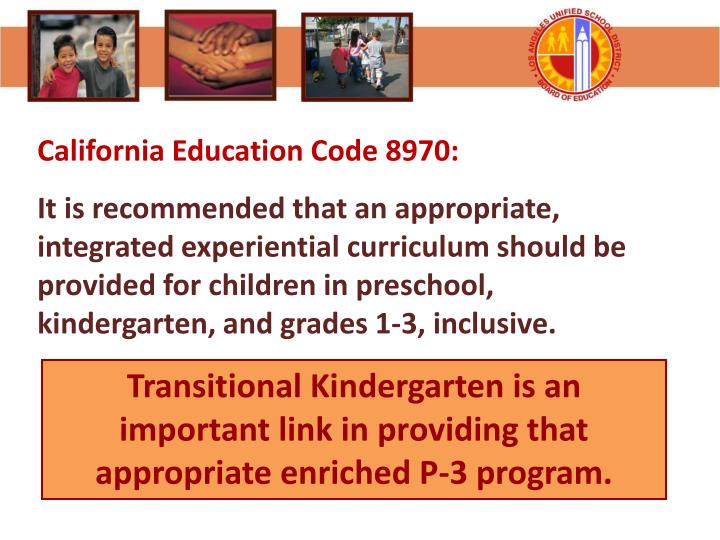 California Education Code 8970: