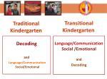 traditional kindergarten