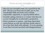 focus on your strengths 2 2