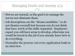 managing doubt and anxiety 2 3