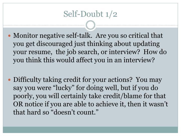 Self-Doubt 1/2