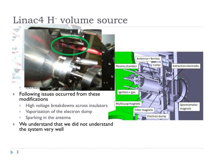 Linac4 h volume source