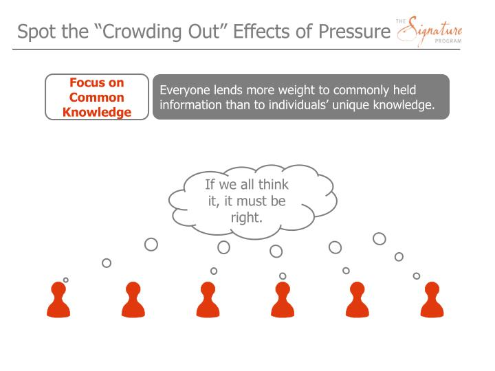 "Spot the ""Crowding Out"" Effects of Pressure"