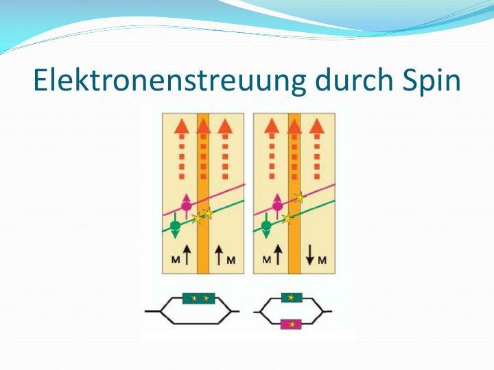Elektronenstreuung durch Spin