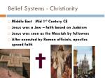 belief systems christianity