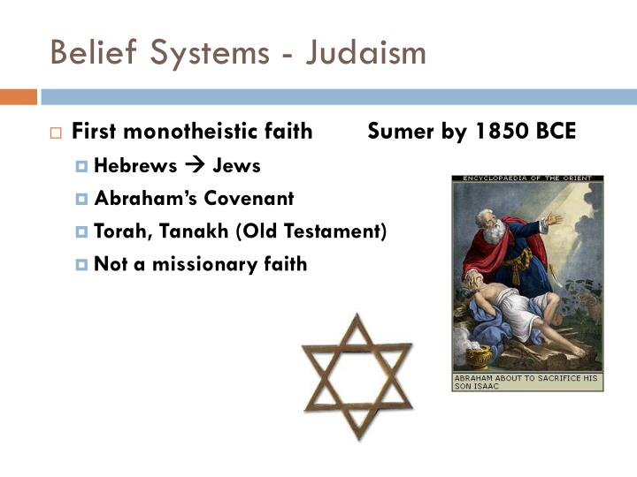 Belief Systems - Judaism