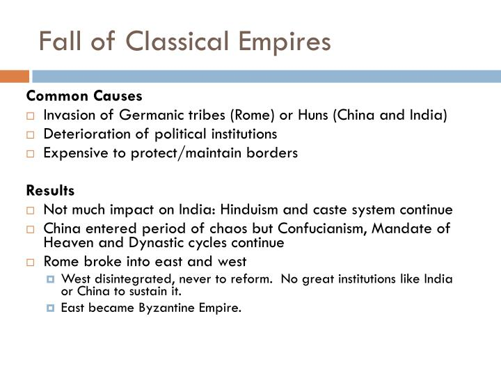 Fall of Classical Empires