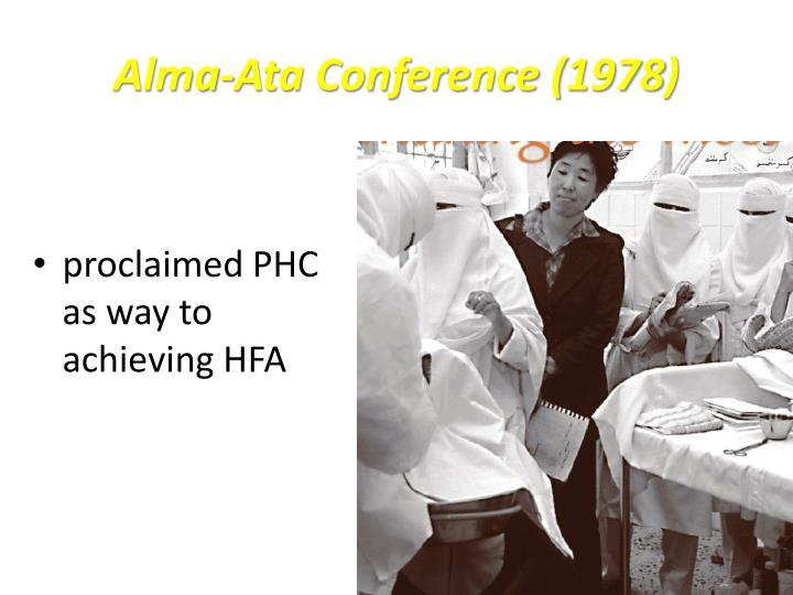 Alma-Ata Conference (1978)