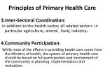 principles of primary health care1