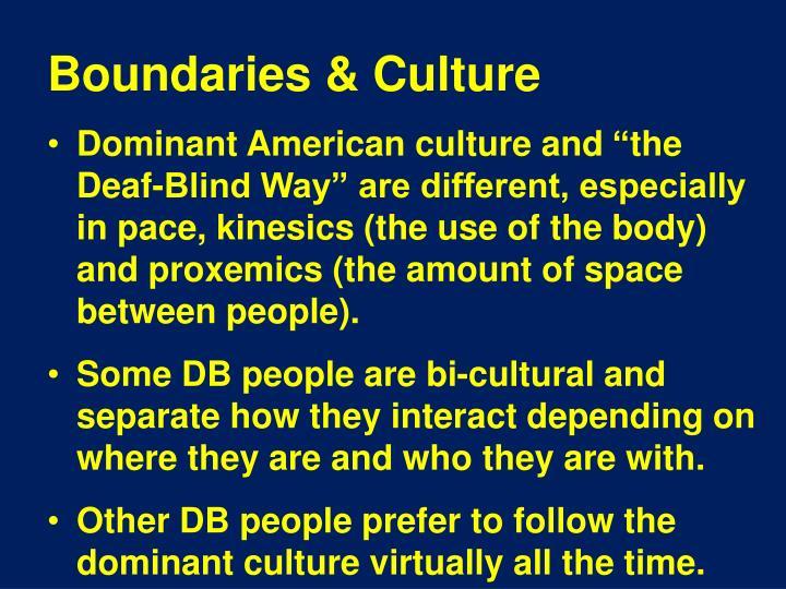 Boundaries & Culture