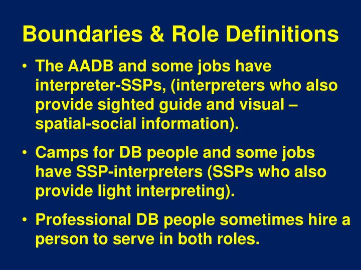Boundaries & Role Definitions