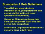 boundaries role definitions
