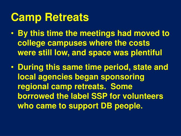 Camp Retreats